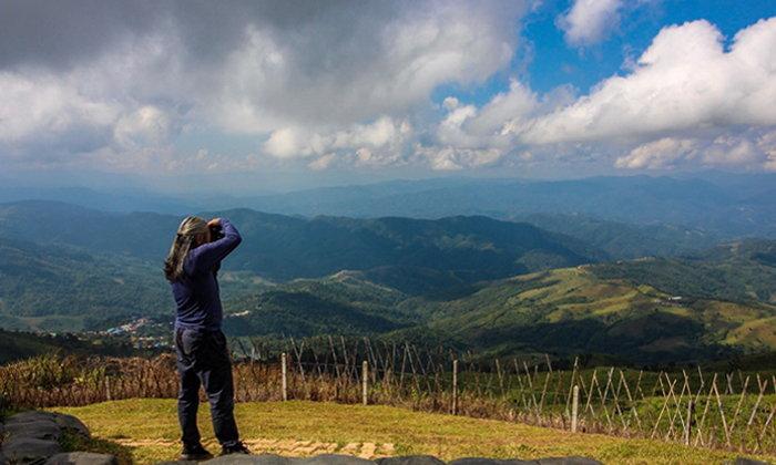 """""""จุดชมวิวดอยช้างมูบ"""" ชมเทือกเขาฝั่งพม่าได้ไกลจนถึงเส้นขอบฟ้า ไม่มีสิ่งใดมาบดบัง"""
