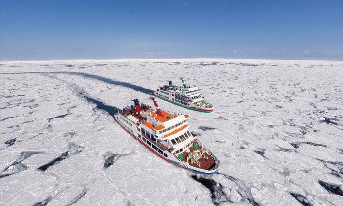 ล่องเรือตัดน้ำแข็ง Aurora ความมหัศจรรย์แห่งฮอกไกโด