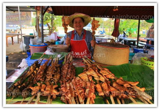 ไก่ย่างป้าแดง พระธาตุพนม แห้ง อร่อยเข้มข้น