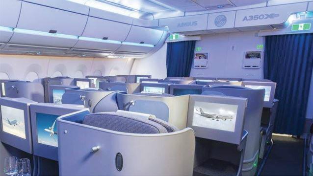 """เผยโฉม...ห้องโดยสารใหม่ มาตรฐาน """"แอร์บัส A350"""""""