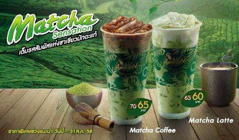 Matcha Sensation เต็มรสสัมผัสแห่งชาเขียวมัทฉะแท้  ที่คาเฟ่ อเมซอน