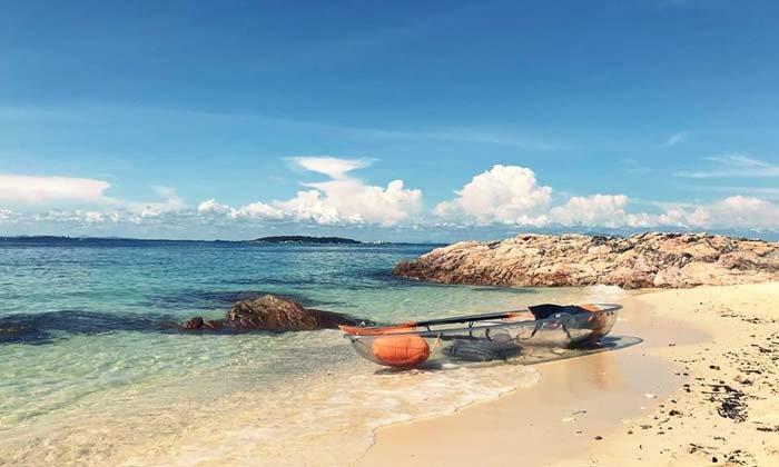 เกาะมันนอก เกาะส่วนตัวกลางทะเลอ่าวไทย ในระยอง