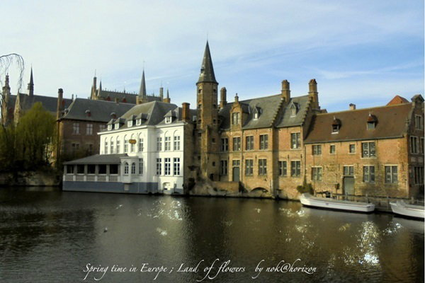 Spring Time in Europe : Land of Flowers ตอน Brugge , Belgium