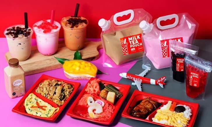 Air Asia Delivery เสิร์ฟเมนูจากบนฟ้าถึงบ้านคุณ สั่งชานมไข่มุกได้โดยไม่ต้องขึ้นเครื่อง