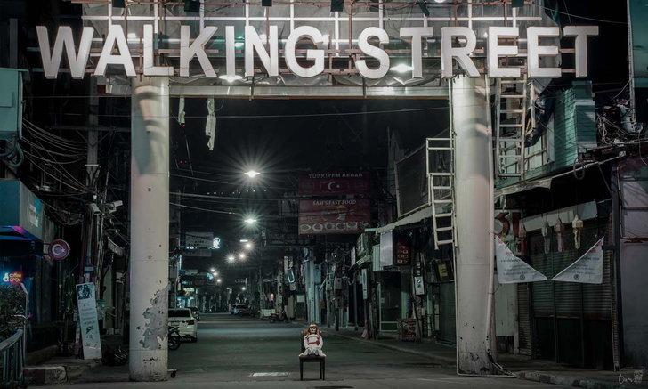 พัทยากลายเป็นเมืองร้าง! โผล่ภาพตุ๊กตาแอนนาเบลทั่วเมืองท่ามกลางบรรยากาศเงียบสงัด