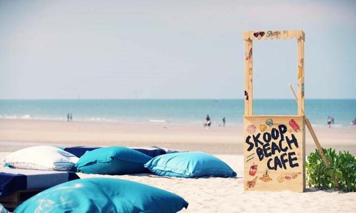 Skoop Beach Cafe คาเฟ่สุดชิค ริมทะเลหัวหิน