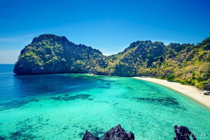 เกาะฮอร์ทชูส์ เกาะรูปโค้งเกือกม้า ทะเลพม่า