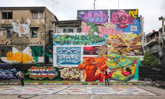 Street Art สวนเฉลิมหล้า ราชเทวี โลเคชั่นถ่ายภาพสุดเท่ใจกลางกรุงเทพฯ