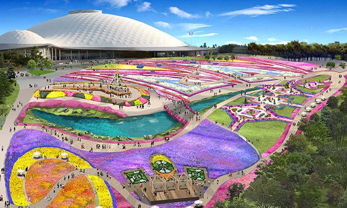 ชมความงามสุดอลังการของดอกไม้กว่า 10 ล้านดอกในงาน Yamaguchi Yume Flower Expo