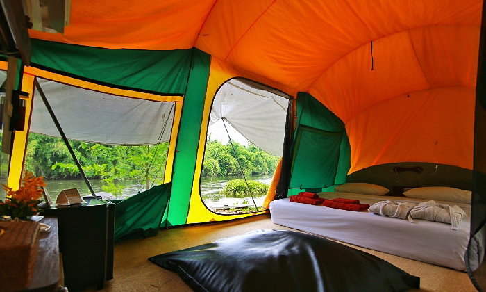 10 ที่พักติดแม่น้ำ รับลมเย็น ที่กาญจนบุรี