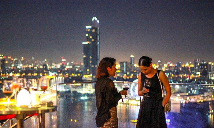 Seen Restaurant and Bar รูฟท็อปบาร์เปิดใหม่วิวแม่น้ำเจ้าพระยาบนความสูงกว่า 27 ชั้น