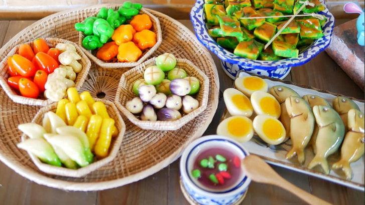 """""""ลูกชุบนายคชา"""" ไอเดียลูกชุบทรงอาหารคาว แปลกใหม่หนึ่งเดียวในไทย!"""