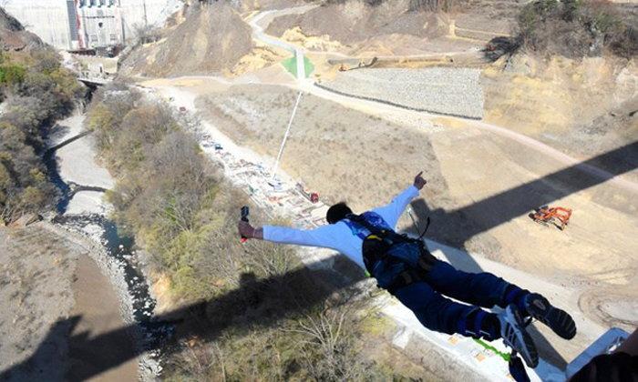 บันจีจัมพ์ที่สูงที่สุดในญี่ปุ่น! จากบนสะพานยัมบะโอฮะชิ จังหวัดกุมมะ