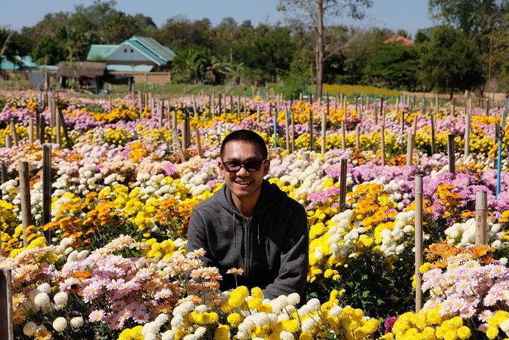 """""""หมู่บ้านห้วยสำราญ กลางทุ่งแห่งดอกไม้ของจังหวัดอุดรธานี"""""""