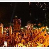 เทศกาลกินหมี่ ประเพณีแห่เทียนพรรษา อำเภอโชคชัย ประจำปี 2553