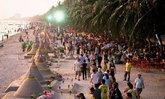 เทศบาลเมืองแสนสุข ยุติโครงการจัดงานประเพณีก่อพระทรายวันไหลบางแสน ประจําปี 2564