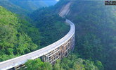 สะพานห้วยตอง เส้นทางเชื่อมต่อเหนืออีสาน พาดผ่านหุบเขาอย่างสวยงาม