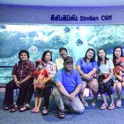 ครอบครัวคุณ Khunsu Sujittra ตู้ปลาบึงฉวาก จังหวัดสุพรรณบุรี