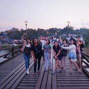 ครอบครัวคุณ Joofjeef Nattaya  สะพานมอญ อำเภอสังขละบุรี จังหวัดกาญจนบุรี