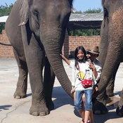 ครอบครัวคุณ Tanyamon Suttirak ซาฟารี จังหวัดกาญจนบุรี