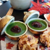 Almond Green Tea Pudding