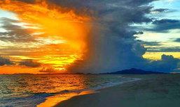 อุทยานแห่งชาติหาดนพรัตน์ธารา-หมู่เกาะพีพี เผยภาพความมหัศจรรย์ของแสงเช้าที่เกาะไผ่