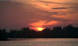 พระอาทิตย์ตกกลางแม่น้ำบางปะกง @ฉะเชิงเทรา - ปราจีนบุรี