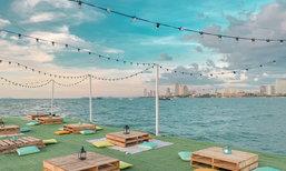 Cafe De Blue คาเฟ่ตกหมึก ลอยน้ำกลางทะเลพัทยา มิติใหม่แห่งวงการคาเฟ่