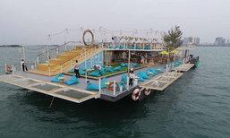 Tappia Floating Cafe Pattaya คาเฟ่ลอยน้ำเปิดใหม่ พร้อมกิจกรรมตกหมึกกลางทะเลพัทยา