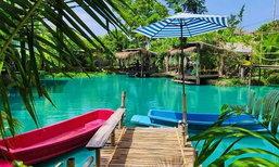 กาแฟบ้านทวด คาเฟ่กลางบ่อน้ำสีฟ้า จุดเช็กอินถ่ายรูปสวยเมืองระยอง