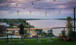 BLU Sky Bar นั่งชิลบนดาดฟ้าริมฝั่งโขง นครพนมก็มีแบบนี้ด้วย!