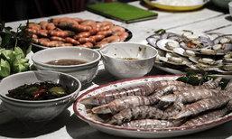 งมหอย จับปู กิน Seafood  ชุมชนบ้านไม้รูด ที่ ตราด