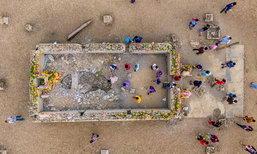 อัปเดตภาพ วัดหนองบัวใหญ่ วัดใต้บาดาลที่จมอยู่ใต้น้ำมานานนับสิบปี