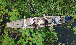 ตลาดน้ำทุ่งบัวแดง โลเคชั่นถ่ายรูปแบบชิคๆ คูลๆ ใกล้กรุงเทพ