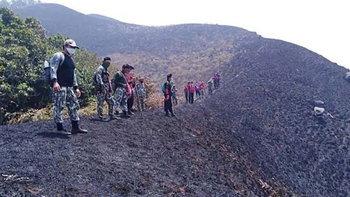 สลดใจสายเดินป่า! ภาพดอยม่อนจองถูกไฟป่าเผาไหม้เป็นเถ้าดำ