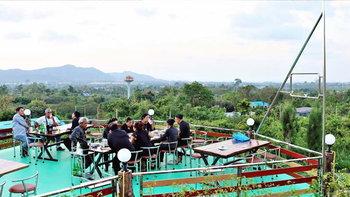 Ma Mong Daw ร้านอาหารบนจุดชมวิว 360 องศา เมืองสัตหีบ