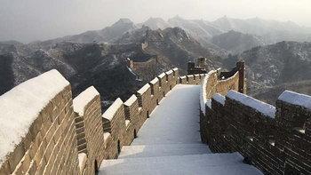 หิมะตกปกคุลมกำแพงเมืองจีน กลายเป็นภาพสุดมหัศจรรย์ที่หาชมได้ยาก!