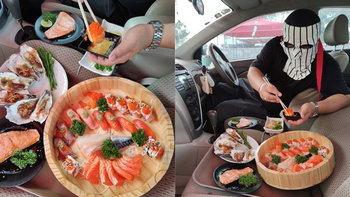 """""""Drive in Buffet"""" บุฟเฟต์แนวใหม่เสิร์ฟให้ถึงรถจากร้าน Daiso Sushi"""