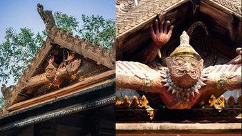 พญาครุฑ 3 มิติ อันซีนไทยแลนด์ วัดศรีมหาโพธิ อ่างทอง