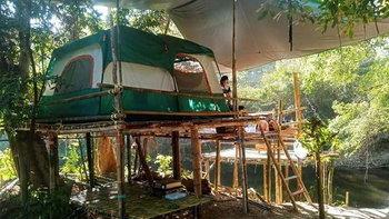 Camping one at Suan Phueng กางเต็นท์นอนสุดชิลริมลำธาร