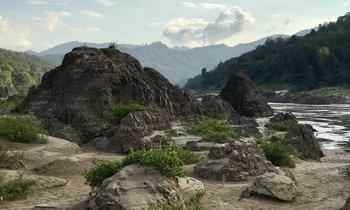 แม่น้ำสาละวินในช่วงหน้าแล้ง ชมความสวยงามแปลกตาของพรมแดนธรรมชาติ!