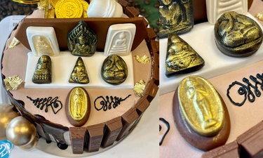 เค้กวัตถุมงคล ของขลังมาแบบแน่นๆ จากร้าน Kidtueng Bakery Surin