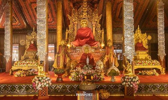วัดนันตาราม พะเยา หนึ่งเดียวของไทย งานแกะสลักเทพคิวปิด