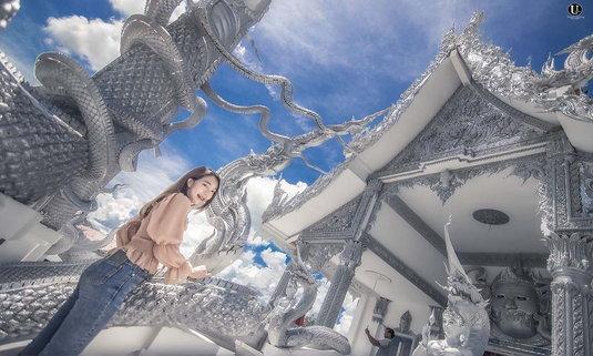 วัดบ้านด่าน แลนด์มาร์คใหม่ศรีสะเกษ ชมสถาปัตยกรรมสุดตระการตาราวกับเมืองสวรรค์