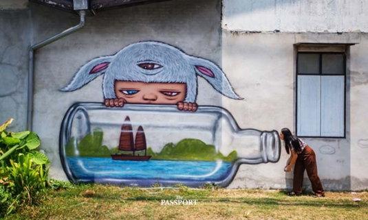 3 Street Art น้องมาร์ดี เมืองพังงา