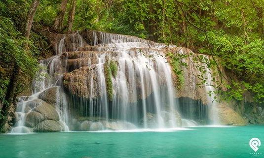 น้ำตกเอราวัณ เปิดแล้ววันนี้ น้ำตกสีฟ้าสุดอันซีนของเมืองไทย
