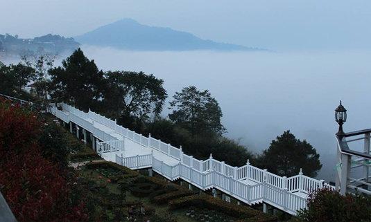 Vin view English rose garden Resort พักผ่อนในสวนสไตล์อังกฤษขนาบข้างทะเลหมอก