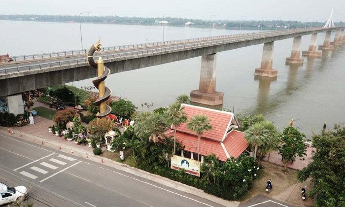 ศาลปู่พญานาคใต้สะพานมิตรภาพแห่งที่ 2 แลนด์มาร์คแห่งความศรัทธาของมุกดาหาร