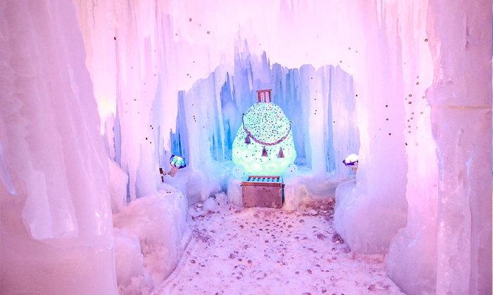 SOUNKYO Ice Fall Festival เทศกาลหิมะที่ถูกโอบล้อมไว้ด้วยภูเขาและสายน้ำ