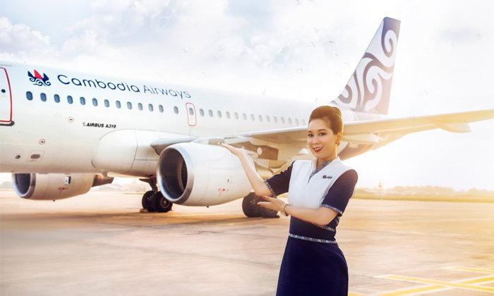สายการบิน Cambodia Airways เปิดเส้นทางบินพนมเปญ-กรุงเทพฯ เที่ยวบินแรกได้สำเร็จ